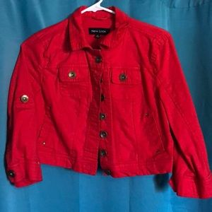 100% cotton red jacket from New Look